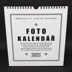Kalendář k dotvoření - bílý