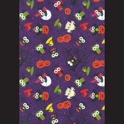 Papír A4, 300 g - soví strašidla / pavučina