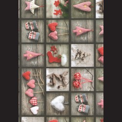 Papír A4, 300 g - červené Vánoce oboustranné