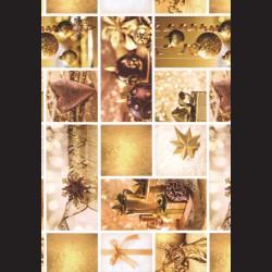 Papír A4, 300 g - zlaté Vánoce oboustranné