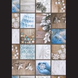 Papír A4, 300 g - modré Vánoce oboustranné
