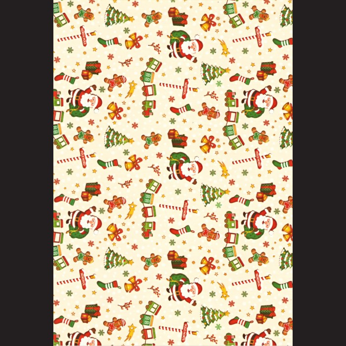 Papír A4, 300 g - Santa Claus / hvězdy