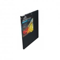 Černé malířské plátno na rámu 30 x 40 cm
