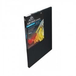 Černé malířské plátno na rámu 40 x 50 cm