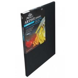 Černé malířské plátno na rámu 50 x 70 cm