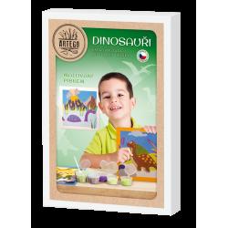 Dinosauři - sada pískování, malování pískem, 6 obrázků, dinosaurus, stegosaurus, styracosaurus, pterodaktyl, tyranosaurus