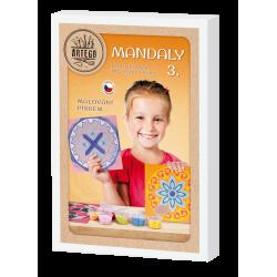 Malování pískem- MANDALY 3 sada 6 obrázků pískování, mandala jednoduchá i složitá pro děti i dopělé