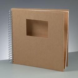 Scrapbookové album s výřezem,  přírodní - 30 x 30 cm