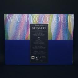 Blok FABRIANO Watercolour pro akvarelové techniky. 12 bílých listů bavlna, lis za studena, velikost 24 x 32 cm, gramáž 300 g/m2
