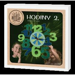 Hodiny 2, kreativní sada na výrobu hodin, zelená, modrá, vhodné pro děti i dospělé