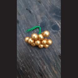 Baňka skleněná 15mm - 12ks tmavě zlatá lesk váínoční dekorace
