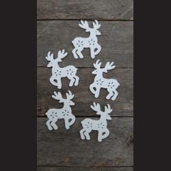 Dřevěné dekorace sob velký - 5ks vánoční ozdoba
