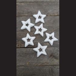 Hvězda bílá na šňůrce, 6ks dekorace vánoční závěs, 3D
