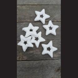 Hvězda bílá na šňůrce, 6ks