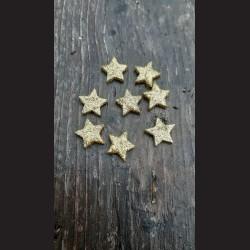 Hvězda bříza - kůra 4cm - 10ks vánoční dekorace ozdoba