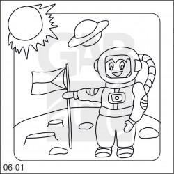Obrázek k pískování - kosmonaut