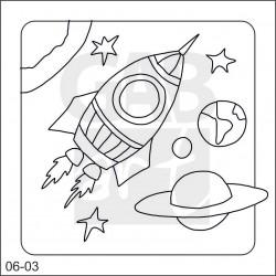 Obrázek k pískování - raketa