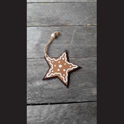 Perníkové hvězda filc dekorace závěs 8cm