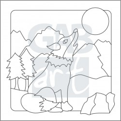 Obrázek k pískování - vlk