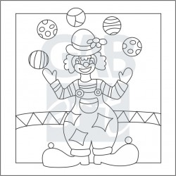 Obrázek k pískování - klaun