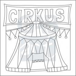 Obrázek k pískování - cirkusový stan