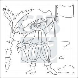 Obrázek k pískování - pirát