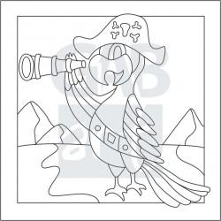 Obrázek k pískování - papoušek pirát