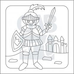 Obrázek k pískování - rytíř