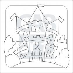 Obrázek k pískování - hrad