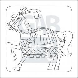Obrázek k pískování - rytířský kůň