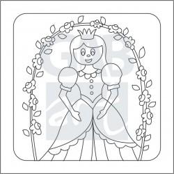 Obrázek k pískování - princezna