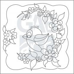 Obrázek k pískování - ptáček