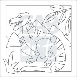 Obrázek k pískování - tyranosaurus