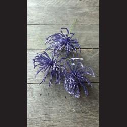 Květ zápich fialový glitr