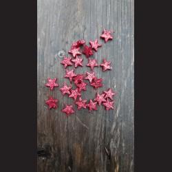 Třpytivá hvězdička červená 1,5cm - 24ks
