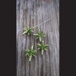 Dekorativní špendlík zelený