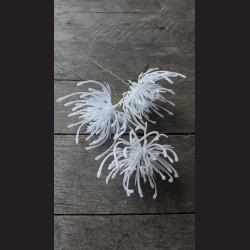 Květ zápich bílý glitr