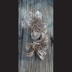 Květ zápich zlatý glitr