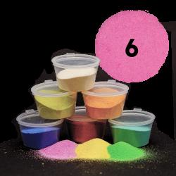 Fuchsiový písek, 30 g