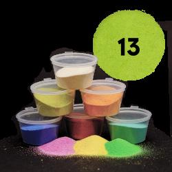 Hráškově zelený písek, 30 g