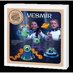 Modelování vesmír s mimozemšťany a ufo, kreativní sada na výrobu figurek  vhodné pro děti i dospělé