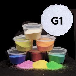 Písek bílý glitr, 30 g