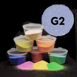 Písek šedý glitr, 30 g