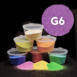 Písek fialový glitr, 30 g