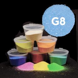 Písek světle modrý glitr, 30 g