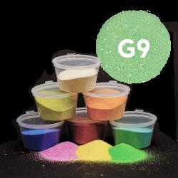 Písek zelený glitr, 30 g