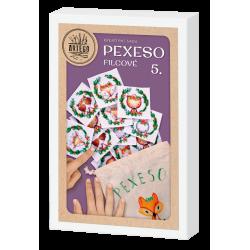 Kreativní sada na výrobu filcového pexesa , lesní zvířátka vhodné pro děti i dospělé