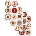Samolepky na adventní kalendář červená kolečka