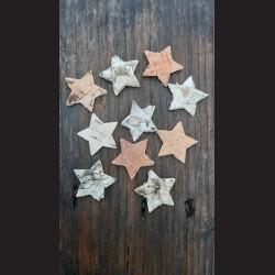 Vánoční dekorace - hvězdy z kůry