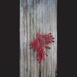 Jehličí zápich - červené glitrové